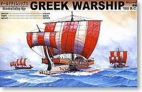Aoshima Greek Warship 100BC Plastic Model Sailing Ship Kit 1/350 Scale #43158