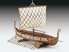 Aoshima Viking Ship 9th Century Plastic Model Sailing Ship Kit 1/350 Scale #43172