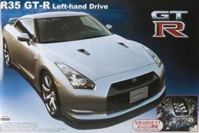 Aoshima Nissan GT-R35 with Engine Plastic Model Car Kit 1/24 Scale #44612