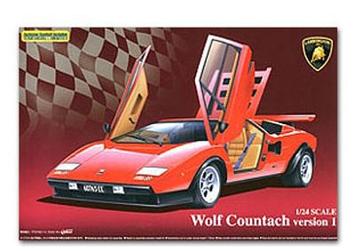 Aoshima Lamborghini Wolf Countach Sports Car Plastic Model Car Kit 1