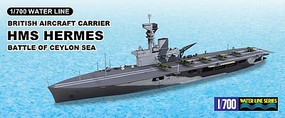 Aoshima HMS Hermes Carrier Battle of Ceylon Sea Plastic Model Military Ship Kit 1/700 #51009