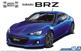 Aoshima 2012 Subaru BRZ 2-Door Car Plastic Model Car Kit 1/24 Scale #51610