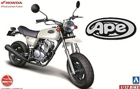 Aoshima Honda Ape 50 Motorcycle Plastic Model Motorcycle Kit 1/12 Scale #51702