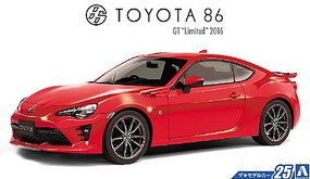 Aoshima 2016 Toyota 86 GT Limited 2-Door Car Plastic Model Car Kit 1/24 Scale #51801