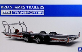 Aoshima Brian James A4 Transporter Trailer (New Tool) Plastic Model Trailer Kit 1/24 Scale #52600