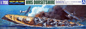 Aoshima 1/700 HMS Dorsetshire Heavy Cruiser Indian Ocean Raid Waterline