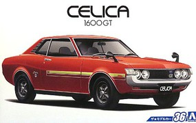 Aoshima 1972 Toyota Celica 1600GT 2-Door Car Plastic Model Car Kit 1/24 Scale #53188