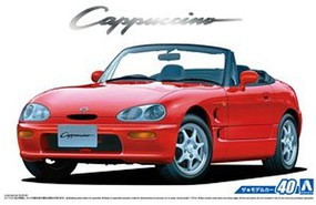 Aoshima 1/24 1991 Suzuki Cappucino 2-Door Sports Car Convertible, Top Down