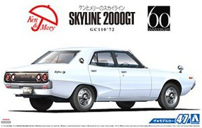 Aoshima 1/24 1972 Nissan Skyline 2000GT GC110 4-Door Car