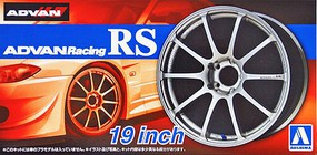 Aoshima 1/24 Advan Racing RS 19 Tire & Wheel Set (4)