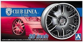 Aoshima 1/24 Club Linea L566 20 Tire & Wheel Set (4)