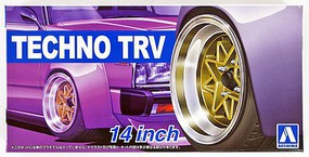 Aoshima 1/24 Techno TRV 14 Tire & Wheel Set (4)