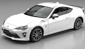 Aoshima Toyota 86 (Subaru BRZ) (Snap Molded in White Peal) Plastic Model Car Kit 1/32 Scale #54185