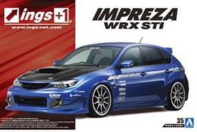 Aoshima 2007 Subaru Impreza ARX STI Sports Car Plastic Model Car Kit 1/24 Scale #54239