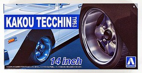 Aoshima 1/24 Kakou Tecchin Type-3 14 Tire & Wheel Set (4)