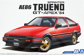 Aoshima 1984 Toyota AE86 Sprinter Trueno GT-APEX Plastic Model Car Kit 1/24 Scale #55946