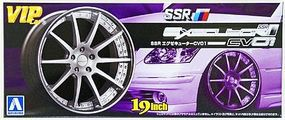 Aoshima SSR Executor CV01 19 Tire & Wheel Set (4) Plastic Model Tire Wheel 1/24 Scale #9178
