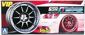 Aoshima SSR Professor SP3 19 Tire & Wheel Set (4) Plastic Model Tire Wheel 1/24 Scale #9192
