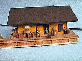 Alpine 1886 Freight House Orange, 5-1/4 x 6'' 13.5 x 15.3cm HO Scale Model Railroad Building #5111