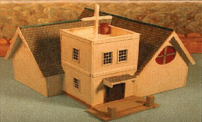 Alpine Division Scale Models Green River Chapel Kit -- HO Scale Model Railroad Building -- #5801
