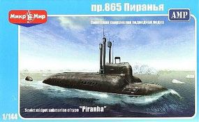 AMP Soviet Type Piranha Midget Submarine Plastic Model Submarine Kit 1/144 Scale #101
