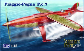 AMP Piaggio Pegna Pc7 Italian Racing Seaplane (New Tool) Plastic Model Airplane 1/48 #48011