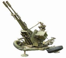 ZU23-2 Anti-Aircraft Gun Plastic Model Artillery Kit 1/48 Scale #48101