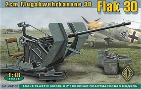 Ace 2cm Flak 30 Gun Plastic Model Artillery Kit 1/48 Scale #48102