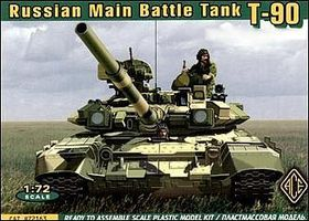 Ace Russian T90 Modern MBT Plastic Model Tank Kit 1/72 Scale #72163