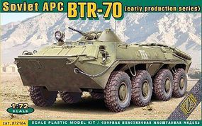 Ace BTR70 Early Soviet Armored Personnel Carrier Plastic Model Military Vehicle Kit 1/72 #72164