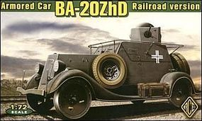 Ace Ba20ZhD Railraod Version WWII Soviet Car Plastic Model Armored Car Kit 1/72 #72210