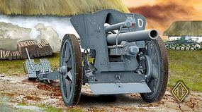 Ace German leFH18/18M 105mm Field Howitzer Plastic Model Artillery Kit 1/72 Scale #72216