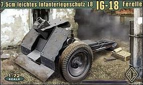 Ace German 7.5cm Light Infantry IG18 Ferelle Gun Plastic Model Artillery Kit 1/72 Scale #72224