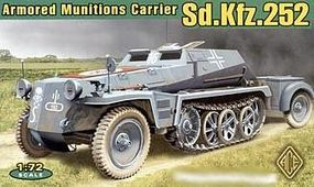 Ace SdKfz 252 Armored Semi-Tracked Munitions Carrier Plastic Model Halftrack Kit 1/72 #72238