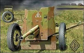 Ace Soviet 45mm Anti-Tank Gun Model 1937 Plastic Model Artillery Kit 1/72 Scale #72242