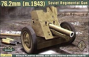 Ace Soviet 76.2mm Regimental Gun Model 1943 Plastic Model Artillery Kit 1/72 Scale #72244