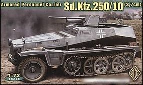 Ace SdKfz 250/10 (3.7cm) Armored Personnel Carrier Plastic Model Halftrack Kit 1/72 #72253