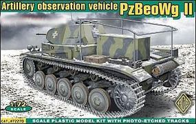 Ace PzBeoWg II German Artillery Observation Vehicle Plastic Model Tank Kit 1/72 #72270