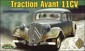 Ace Citroen Traction Avant 11CV WWII Army Plastic Model Military Staff Car 1/72 Scale #72273
