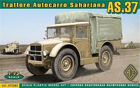 Ace AS37 Trattore Autocarro Sahariana Transporter Plastic Model Cargo Truck 1/72 Scale #72283