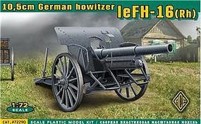 Ace German leFH16(RH) 10.5cm WWII Field Howitzer Plastic Model Artillery Kit 1/72 Scale #72290