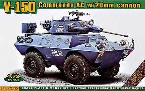 Ace 1/72 V150 Commando AC Armored Personnel Carrier w/20mm Gun