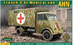 Ace AHN 3,5t French Medical Van Plastic Model Military Vehicle Kit 1/72 Scale #72524