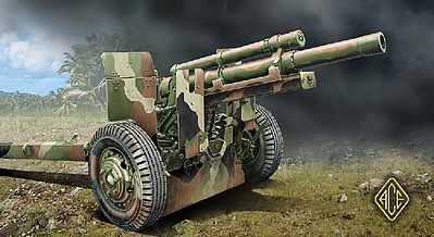 Ace M2A1 105mm US Field Howitzer Gun Plastic Model Artillery Kit 1/72 Scale #72527