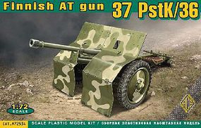 Ace 37mm PstK/36 Finnish Anti-Tank Gun Plastic Model Military Vehicle Kit 1/72 Scale #72534