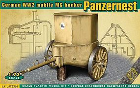 Ace WWII German Mobile MG Bunker Panzernest Plastic Model Military Vehicle Kit 1/72 #72561