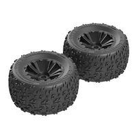 ARRMA Copperhead MT 6S Tire/Wheel Glued Black (2)
