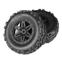 ARRMA Sand Scorpion DB XL Tire/Wheel Glue Blk Fr (2)