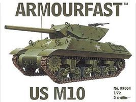 Armourfast US M10 Tank (2) Plastic Model Tank Kit 1/72 Scale #99004