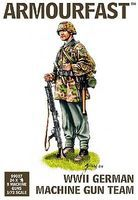 Armourfast WWII German Machine Gun Team (24 & 8 Guns) Plastic Model Military Figure 1/72 #99007